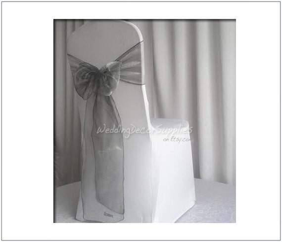dark grey chair sashes