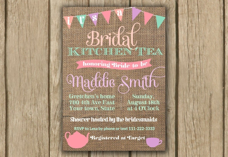 Games For Kitchen Tea Bridal Shower Kitchen Tea Invite Bridal Shower Invite By