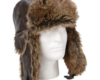 Genuine Leather Winter Hat