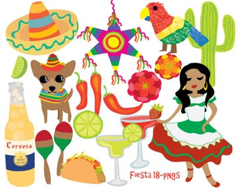Cinco de Mayo clip art - Fiesta Clip Art - Mexican clip art - Quirky Party Clipart
