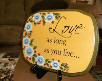 Love hp wooden sign