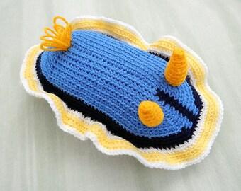 Amigurumi Crochet Pattern - Sea Slug (Nudibranch / Chromodoris Annae)   Pattern No.14