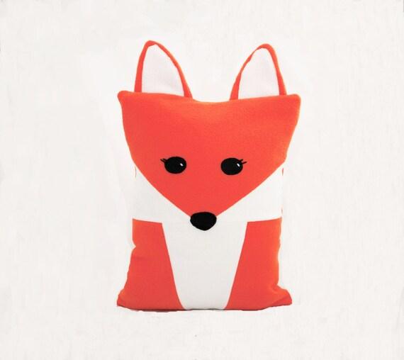 Cute Tumblr Pillows Etsy : Fantastic Fox Pillow Bright Orange Cute Soft Woodland Animal