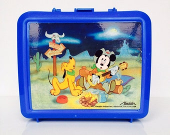 Vintage Mickey Mouse Cowboy Lunchbox