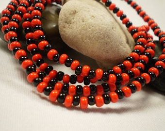 Eleggua Eleke, Santeria, Yoruba, Elegua, Black and red Necklace, Orishas