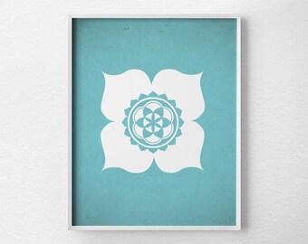 Lotus Poster, Yoga Print, Yoga Studio Decor, Wall Art, Minimalist Print, Yoga Poster, Zen Home Decor, 0135