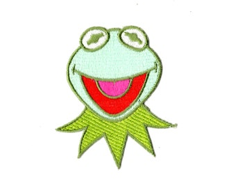 Kermit the Frog embroidered iron on patch