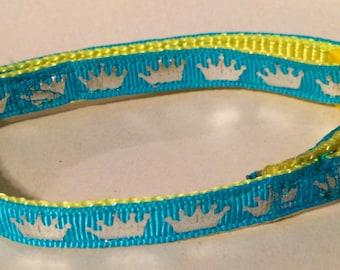 Crown small dog collar