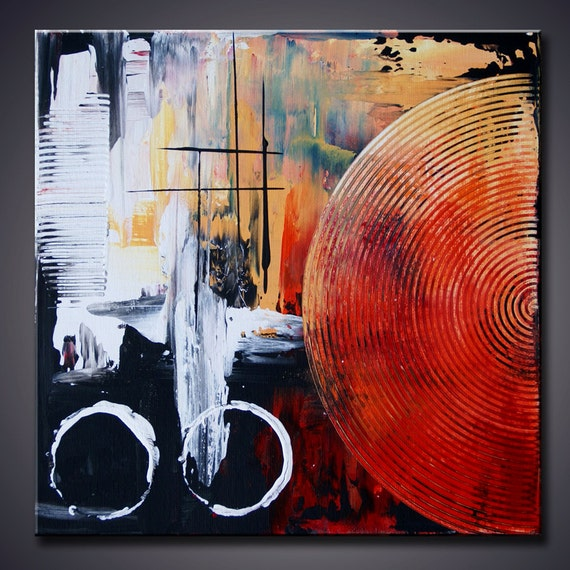 "Mix and Match 12""x12""  Modern Abstract Contemporary  Small gift art Pallete Knife Art Painting Ready to Hang"