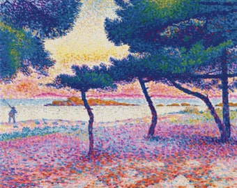 The Beach at Saint-Clair PDF Cross Stitch Pattern