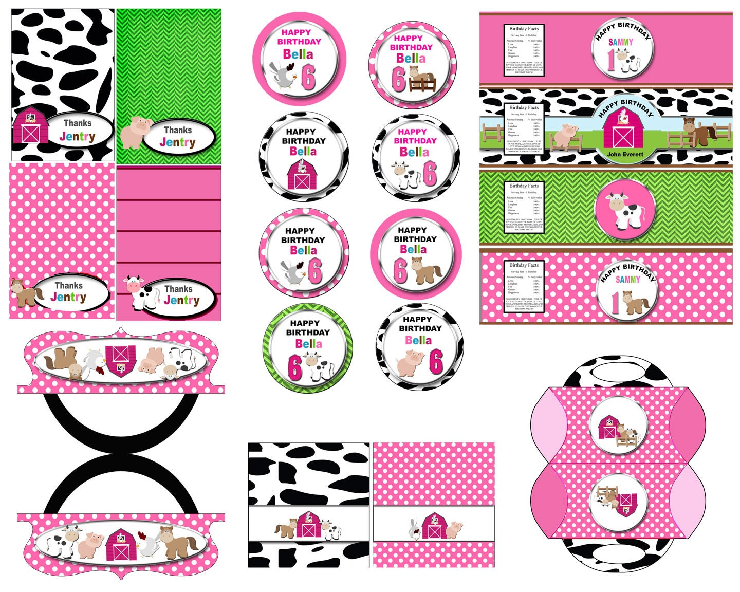 Farm party, farm birthday party kit barnyard birthday country party ...
