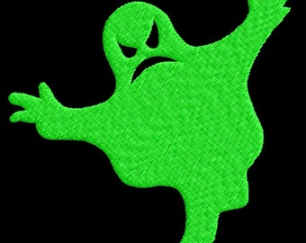 Halloween Spooky Ghost Embroidery Design