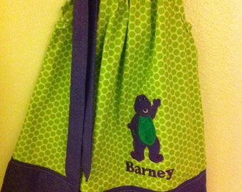 Barney pillowcase dress