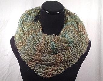 Meadow Brioche Infinity Knit Scarf