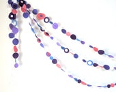 Purple Eco-Friendly Felt 6 ft Garland Holiday Decor Pink Orchid Lavender Blue White Glitter Birthday Party Supply Children Room p2