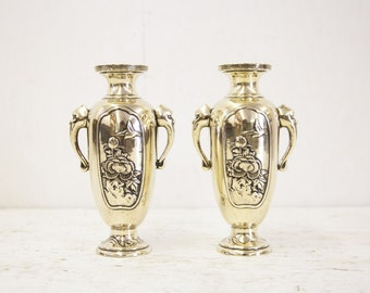 Pair of Japanese Brass Vases