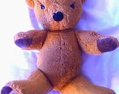 Vintage 1980s Antique Merrythought Shropshire England Golden Plush Teddy Bear