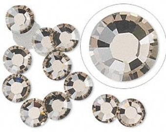 Black Diamond Swarovski Crystal Flat Back SS8 Non Hotfix