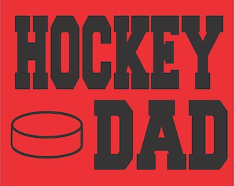Hockey Dad Sweatshirt/ Hockey Dad Hoodie/ Vinyl Hockey Dad Hoodie Sweatshirt/ Hockey Shirts/ Many Colors