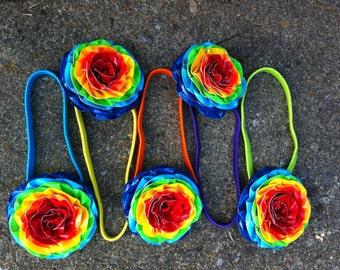 Duct Tape Rainbow Flower Headband Duct Tape