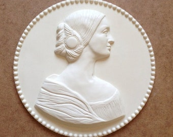 White Lady Figure 3d Relief wall decor,free shipping