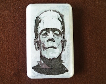 Frankenstein Monster iPod Classic Hard Cover Shell Case 80/120/160 GB 6th 7th generation / iPod Touch 5 Hard Case Shell Skin Cover