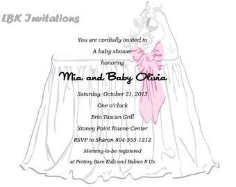 Baby Shower Invitation (Girl, boy or neutral)