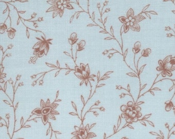 Lario by 3 Sisters - Leaves and Stems Toile - Soft Blue - 27 x 42 inches