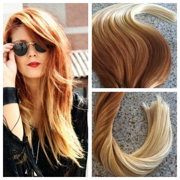 5 Star Ombre Balayage Cuticle Remy Human Copperauburn Ombre Tape In