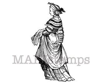 Renaissance stamp / Art rubber stamp / Tudor Woman (140403)