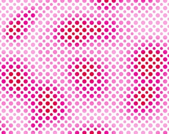 Per Yard, Ombre Dots Red Fabric From Quilting Treasures