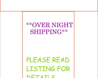 Rush My Baby Month Stickers and Ship Over Night