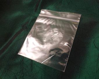 "100 x Clear Zip Lock Grip Seal Resealable Plastic Bags 3"" x 3.25"" (76mm x 83mm), Supplies, UK Seller (EXGB-003)"