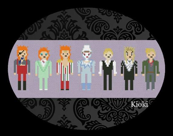 Cross Stitch Pattern David Bowie Instant Download