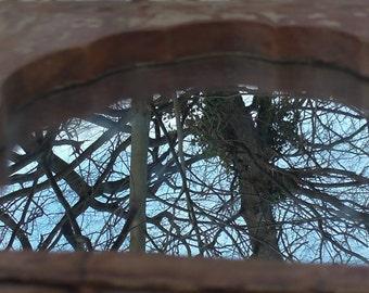Vintage mirror made of  teakwood  from the eighties.