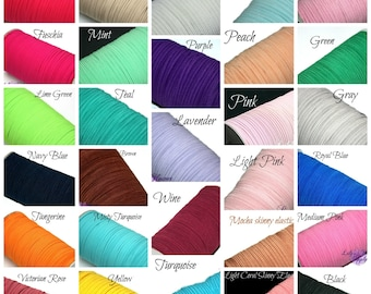 Multi Pack 1/8 inch Elastic - You choose colors  and quantity - Skinny Elastic - Elastic by the yard - Thin Elastic - DIY - Headbands