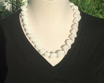 White Spiral Necklace