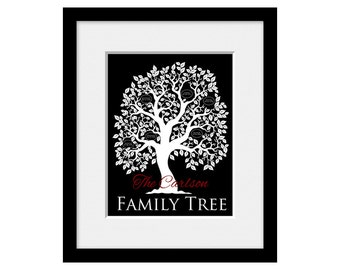 Family Tree Wall Art, Personalized Anniversary Gift for Grandparents, Parents Family Tree Gift, Christmas, Mothers Day