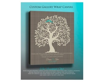 CANVAS Wedding Gift for Parents, Personalized Wedding Tree, Brides Parents, Grooms Parents, Mother of the Bride, Mother of the Groom