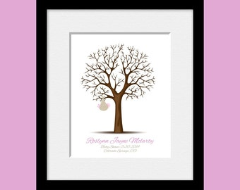 Thumbprint Tree, Keepsake Baby Shower Guest Book Alternative, Shower Guestbook, Personalized Guest Book Tree, Nursery Wall Poster, All Sizes