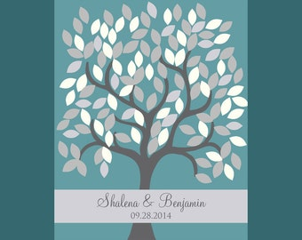 Wedding Signature Tree, Wedding Guestbook Alternative, Wedding Tree Guestbook, 120 Leave Signature Tree, Guestbook Poster