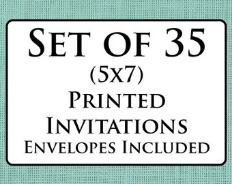 35 Printed Invitations with Envelopes
