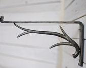 Forged Iron Shelf Bracket, Forest Decor, Steel Shelf Bracket