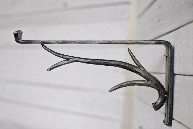 forged iron shelf bracket forest decor steel shelf bracket. Black Bedroom Furniture Sets. Home Design Ideas