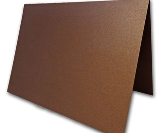 Blank Metallic Bronze Place Cards 25 pack