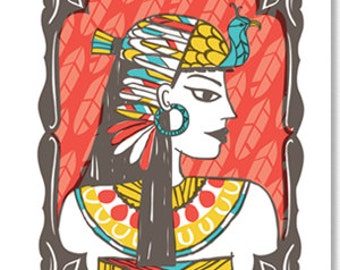 Wall Art-Cleopatra-Queen of the Nile-I Will Not Be Triumphed Over-Home Decor Art Print 10x8