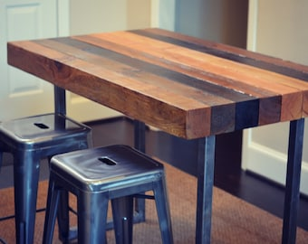 handmade counter height table etsy