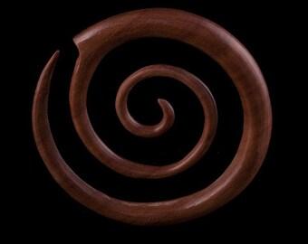 Sawo Wood Super Spiral Ear Expander,Real Ear Expander, Gauge jewelry, Gauge piercing, Tribal jewelry (code 3)