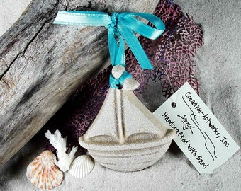TOY SAILBOAT Made with Sand Sand Ornament