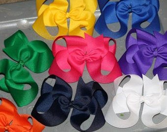 BIG Boutique Hair Bow! You Choose Color!